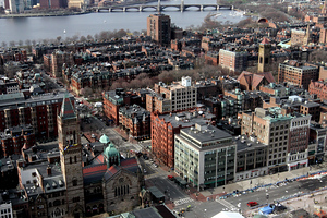 Boston, MA, April 15, 2013:  Debris on Boylston Street is shown after two bombs were detonated at the finish line of the 2013 Boston Marathon.  (Photo by Billie Weiss)